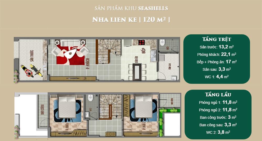 Thiết kế nhà liền kề của dự án Bella Villa