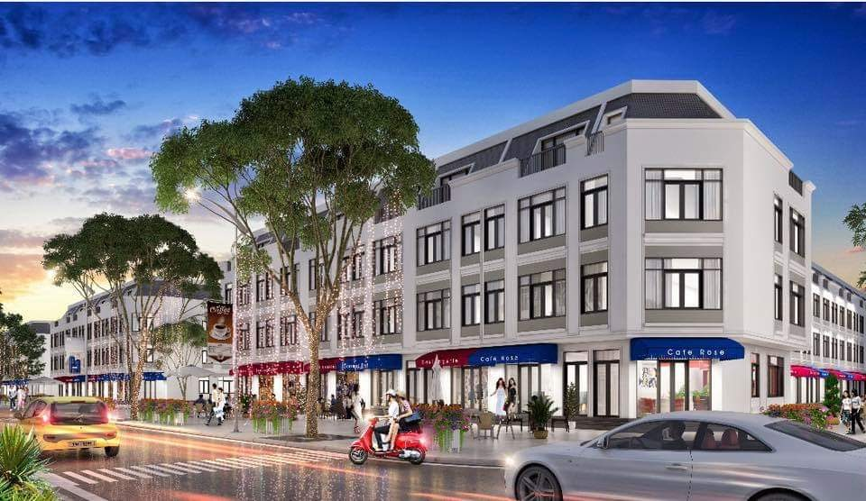 Nhà mặt phố thuận tiện cho hoạt động kinh doanh và buôn bán