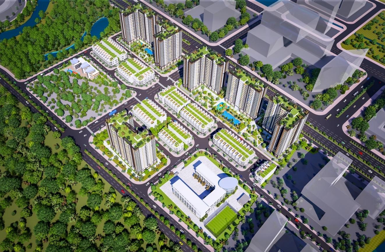 Toàn cảnh City Gate 5 (NBB Garden 2) qua bản thiết kế