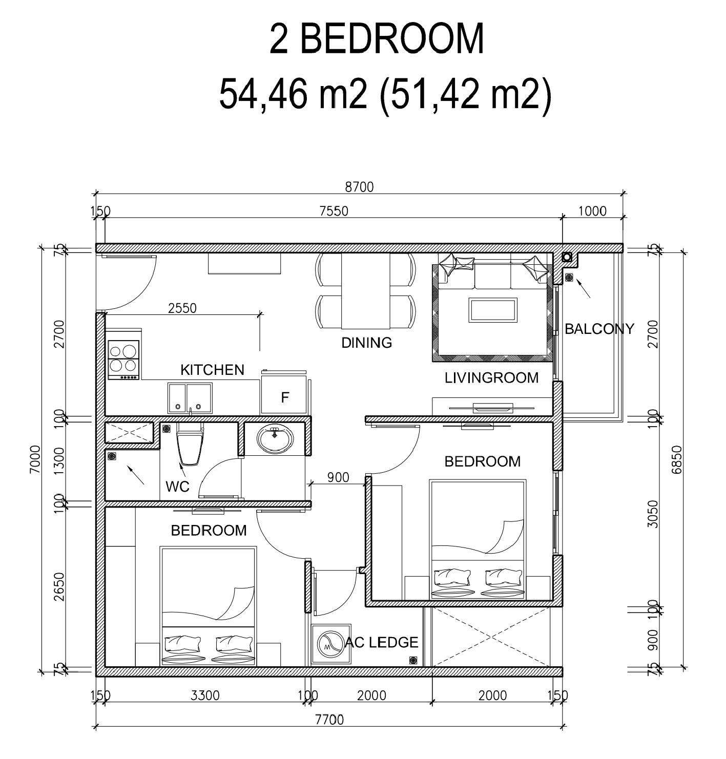 Hình ảnh thiết kể phòng ngủ  lớn của dự án City Gate 5 (NBB Garden 2)